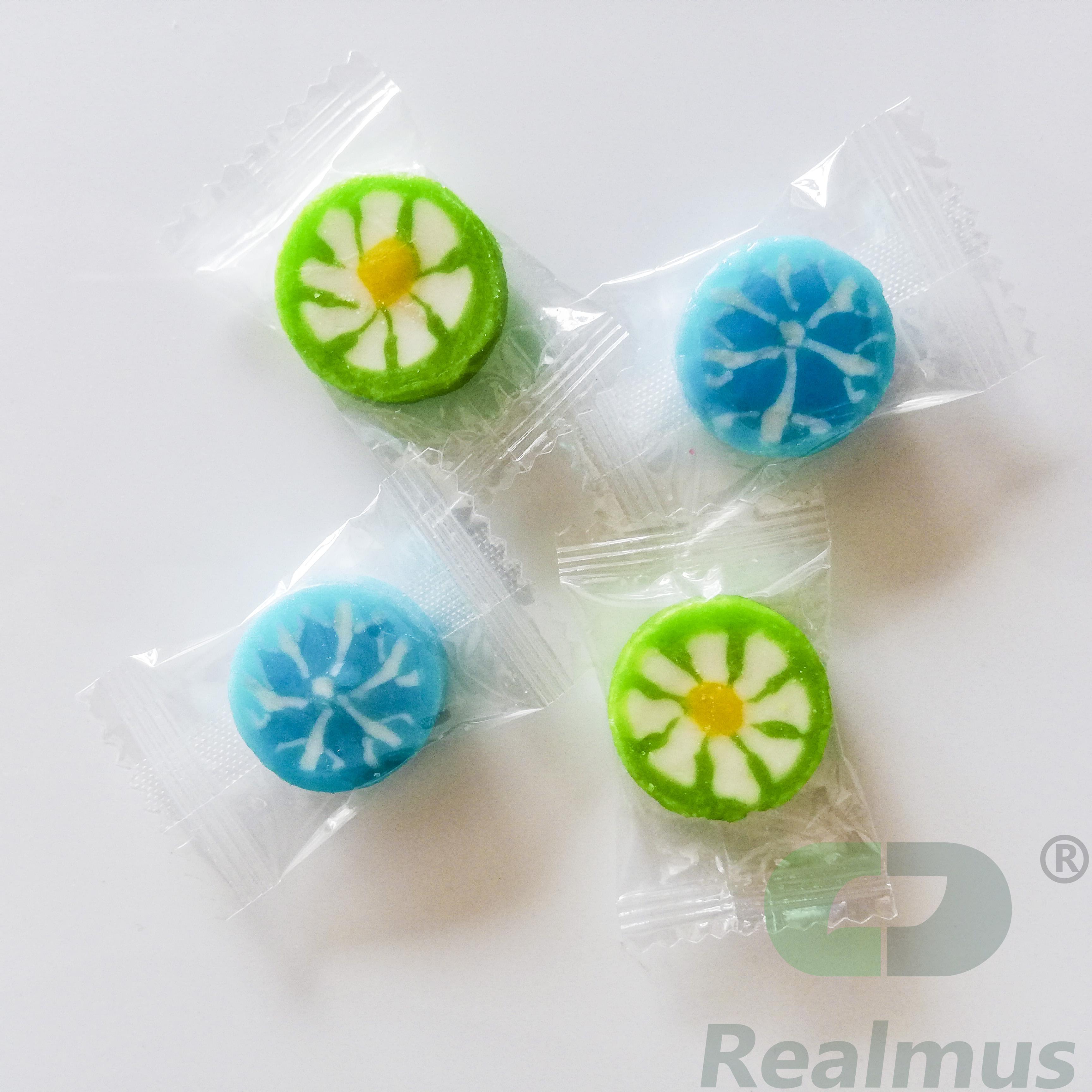 Halal lollipop cartoon round swirl sweet lollipop spring multi-colour Rainbow Twisty Lollipop Candy